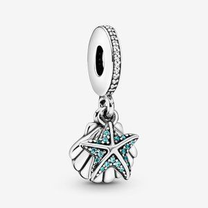Pandora Starfish and Sea Shell Dangle Charm